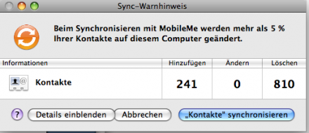 Typischer Syncingkonflikt: Kontakte an verschiedenen Rechnern geändert. Und nun?