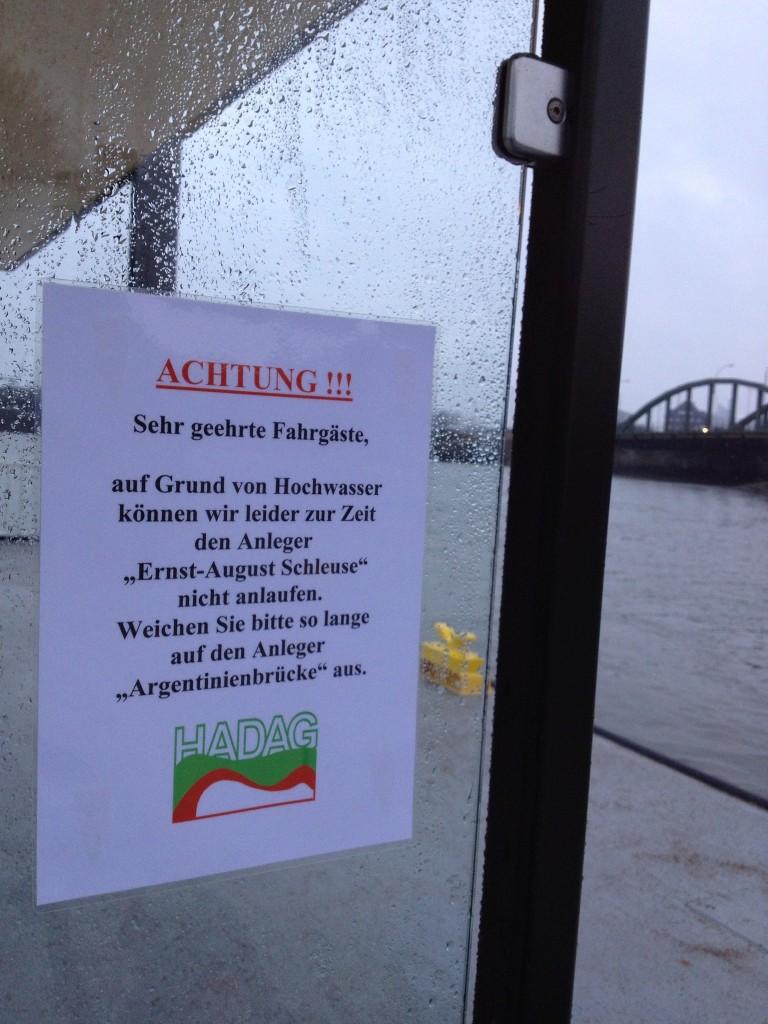 HVV ferry, now also to Wilhelmsburg. Sometimes.