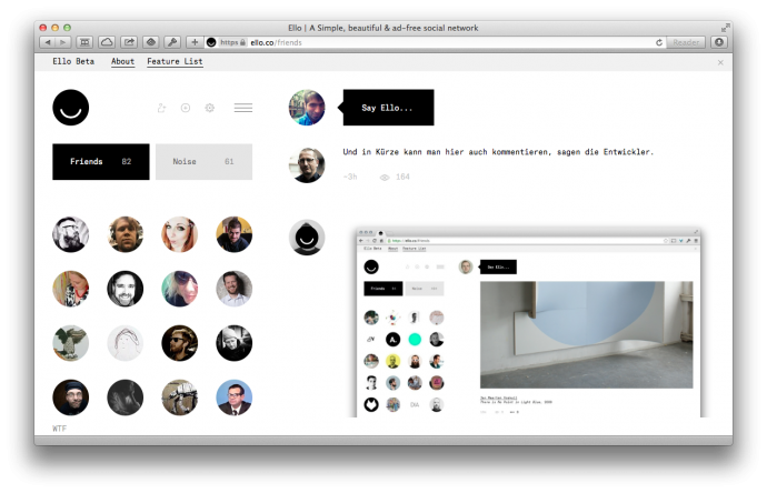 Ello.co – Screenshot